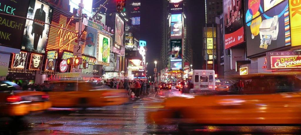 Noisy city at night