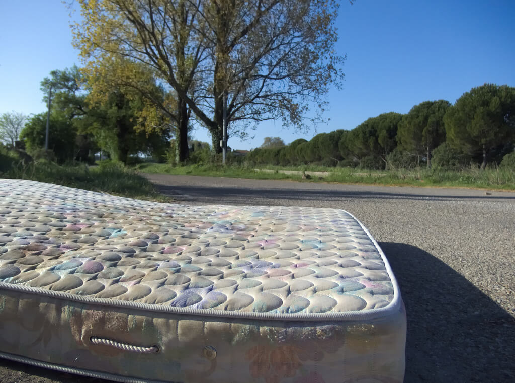 mattress on the street