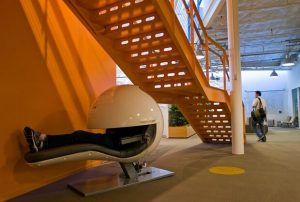 A futuristic nap-pod at Google