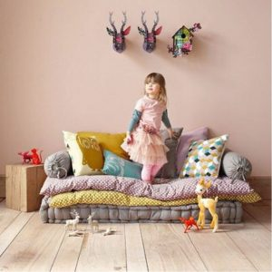 Add comfy pillows and mattresses to your kids bedroom