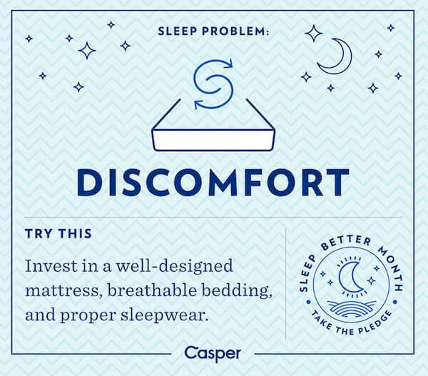 Sleep and discomfort - Casper