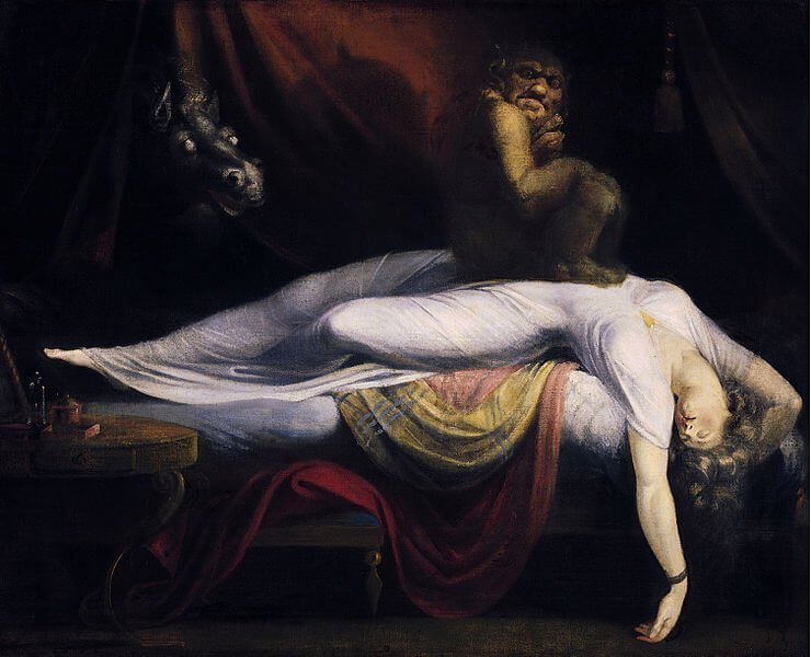 The nightmare of sleep paralysis demons, witches and ghouls