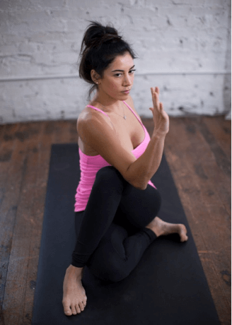 Spinal Twist (Supta Matsyendrasana) yoga pose for sleep