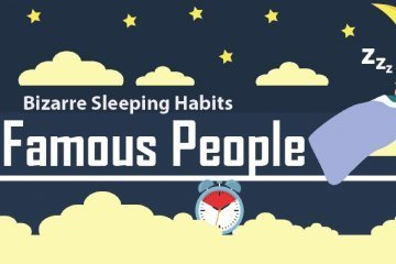 celebrities bizarre sleeping habits infographic