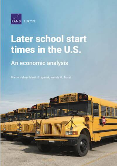 Later School Start Times In The U.S.